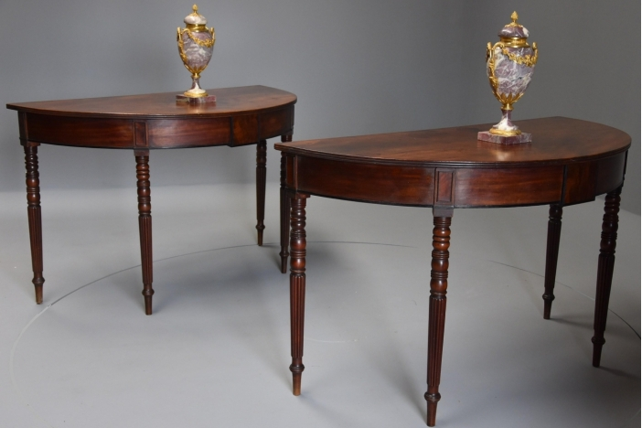 Pair of 19thc console tables