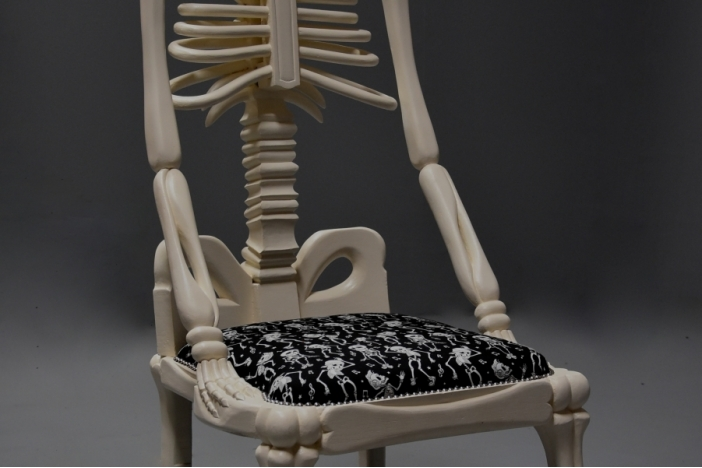 Decorative skeleton chair