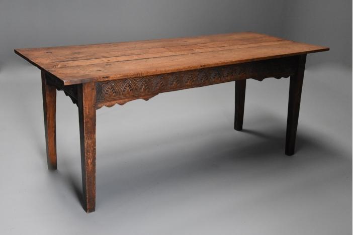 18thc  oak farmhouse table