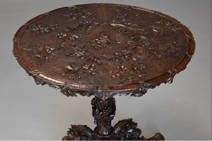 19thc Black Forest table