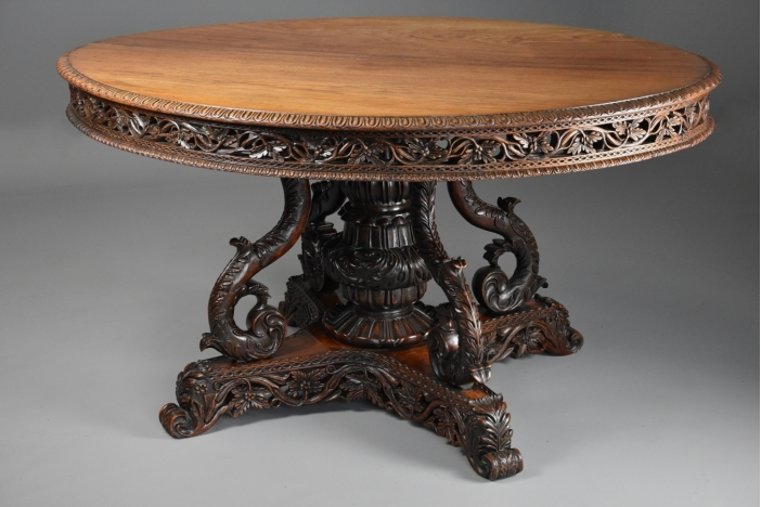 Anglo Indian padouk table