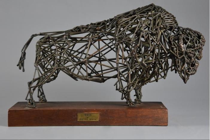 Bronze wirework 'Bison'