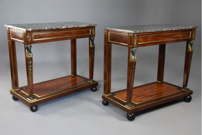 French Empire console tables