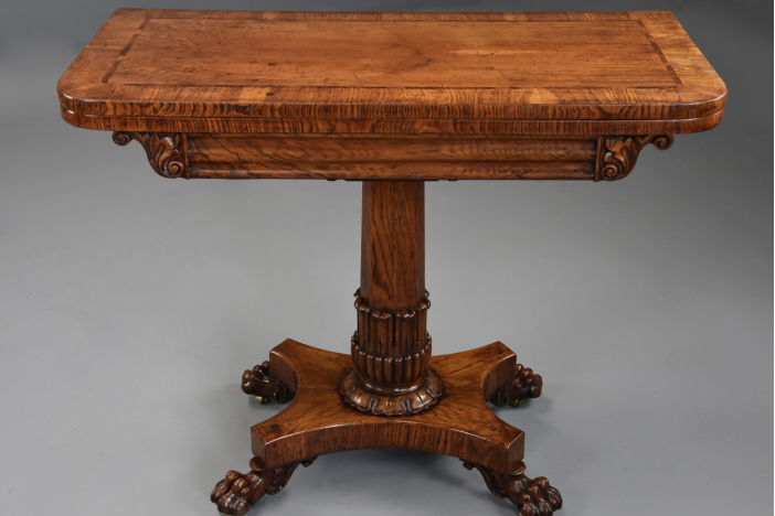William IVth oak card table