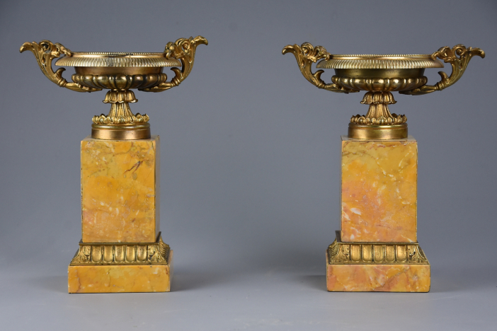 Pair Neoclassical style tazzas