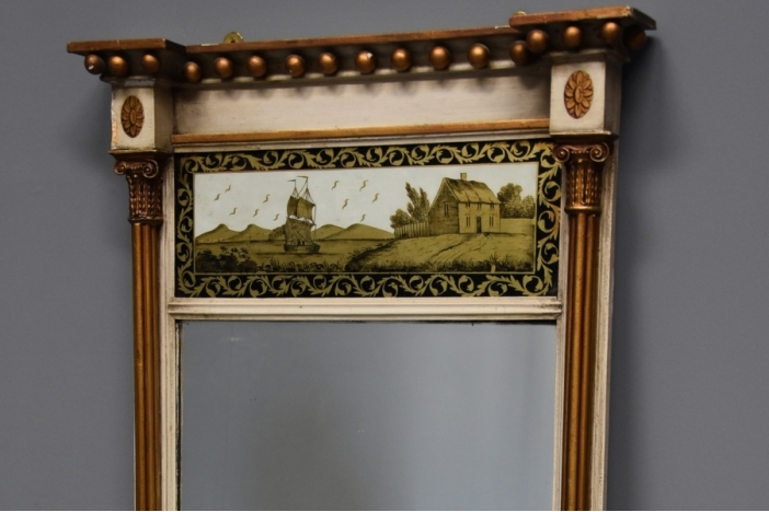 Regency gilt & painted mirror