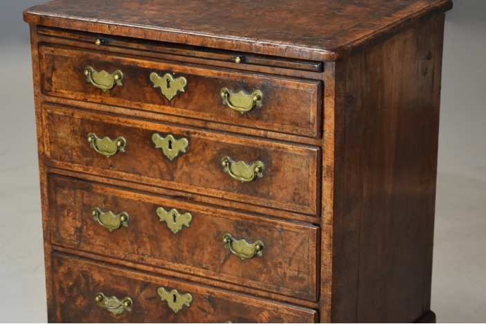 Rare 18thc walnut chest