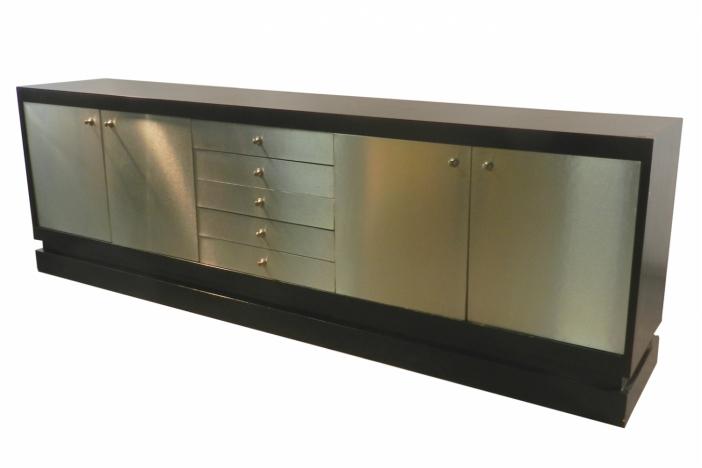 Acerbis, steel & oak sideboard