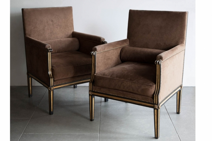 Pair of 18th century Bergeres