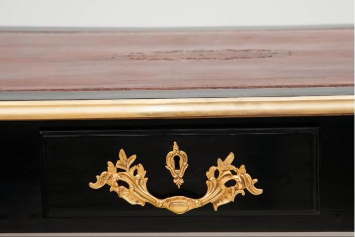 Louis XV Ebonised Desk