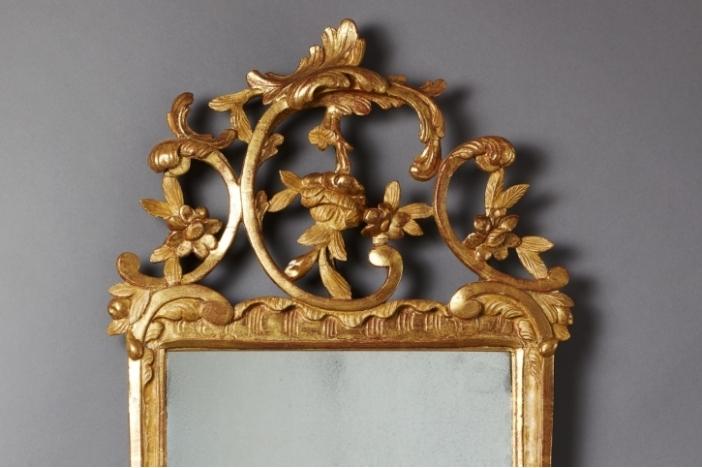 Giltwood Mirror, 18th C