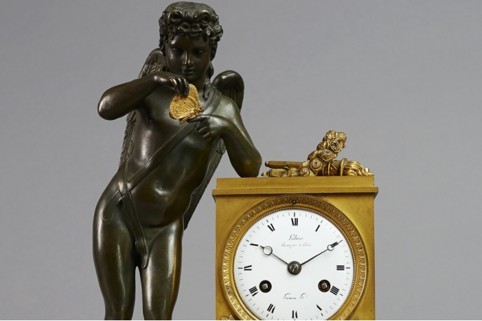 Empire Mantel Clock, 19th C