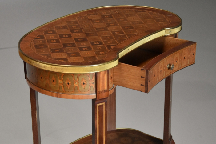 19thc French parquetry table