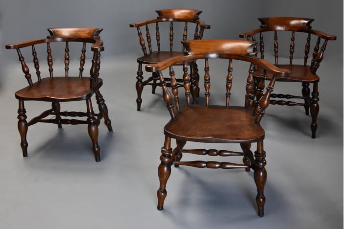 Set of 4 smokers bow chairs