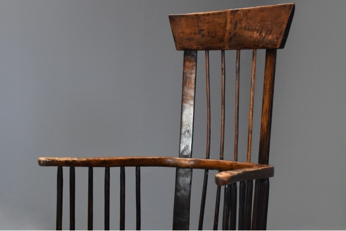 Welsh ash comb back chair