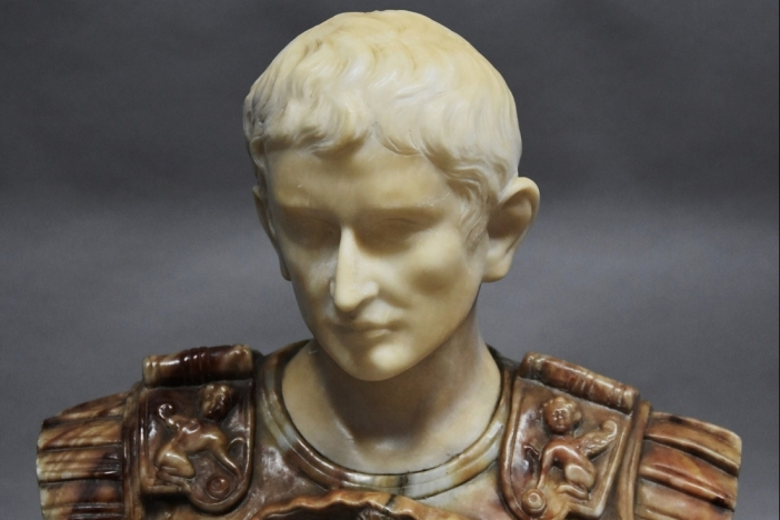 Marble bust of Roman Emperor