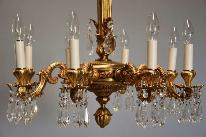 French ormolu chandelier