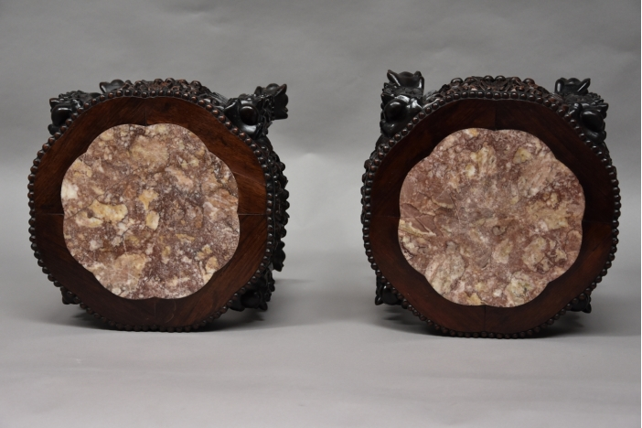 Pair of Chinese pot stands