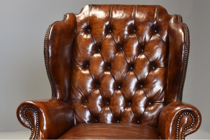 Georgian style leather chair