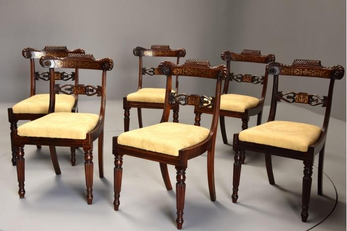 Set of six Regency chairs