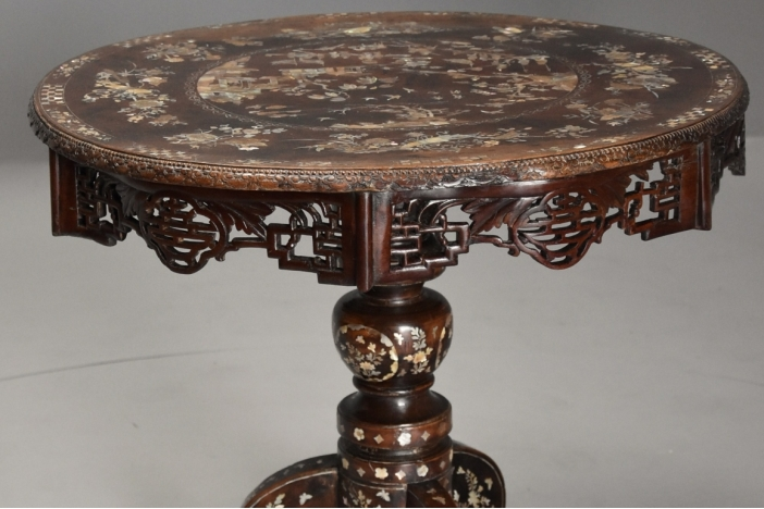 Chinese inlaid centre table
