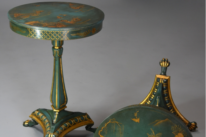 Pair of lacquered tables
