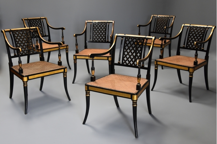 Set of Regency armchairs