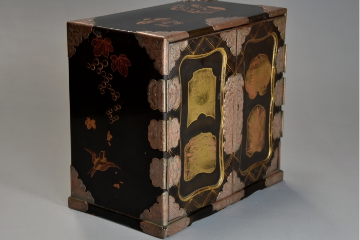 Japanese lacquer table cabinet
