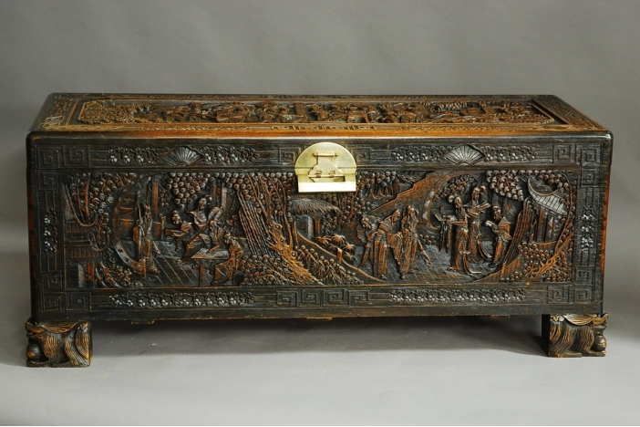 Large Chinese camphor chest
