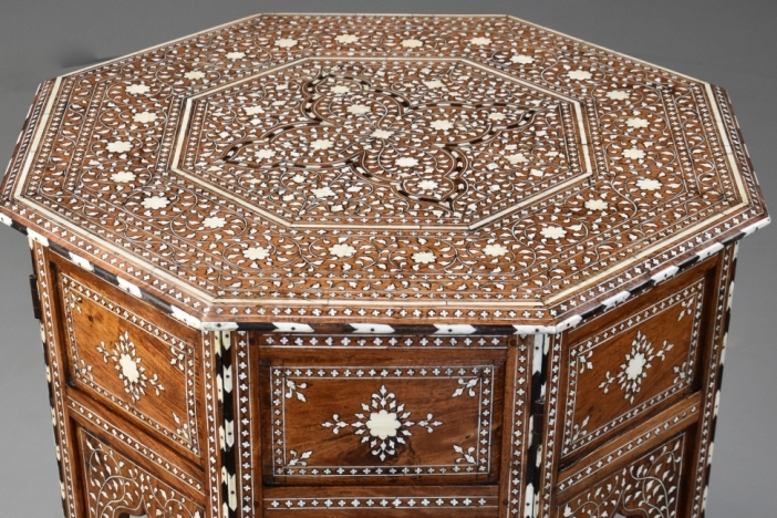 Anglo Indian inlaid table