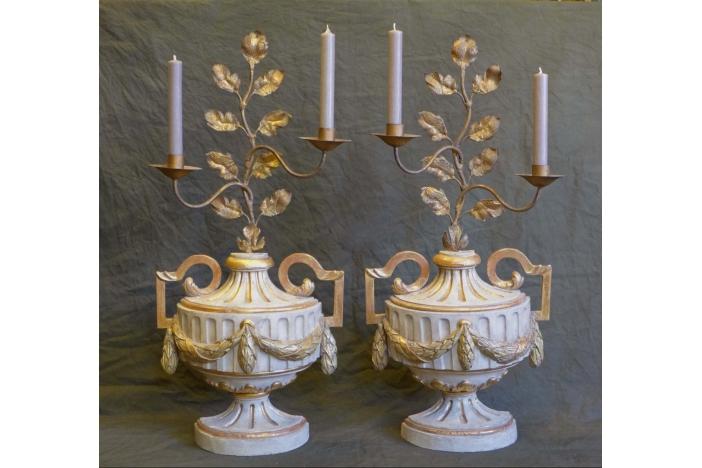 Pair candelabra , Louis XVI