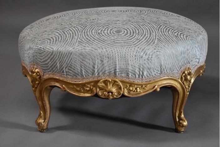 Large giltwood footstool