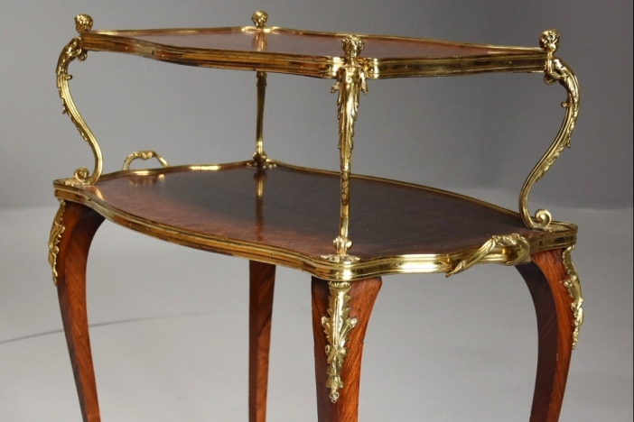 French 2 tier etagere