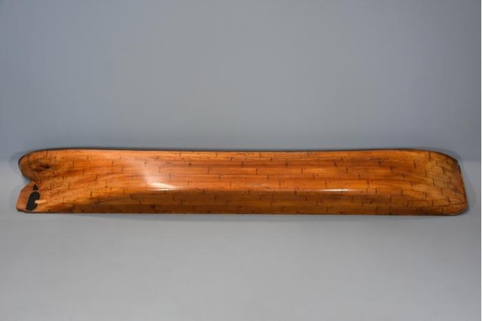 19thc pine half hull model