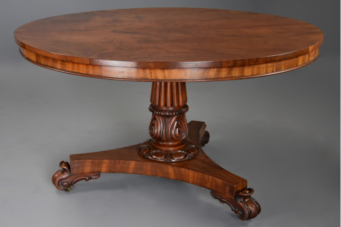 19thc mahogany centre table