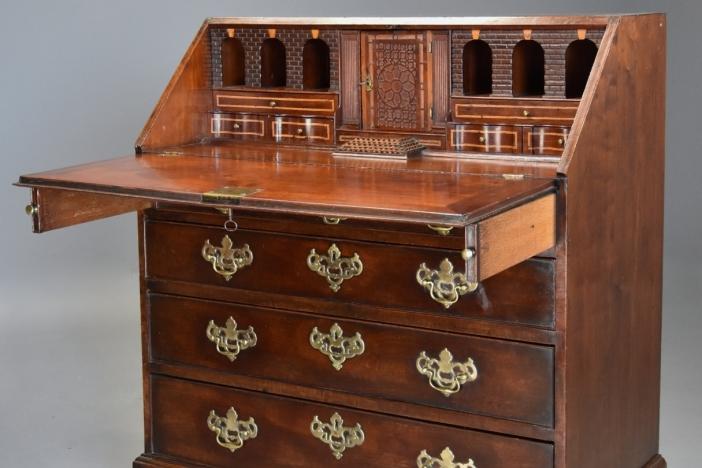 18thc mahogany bureau