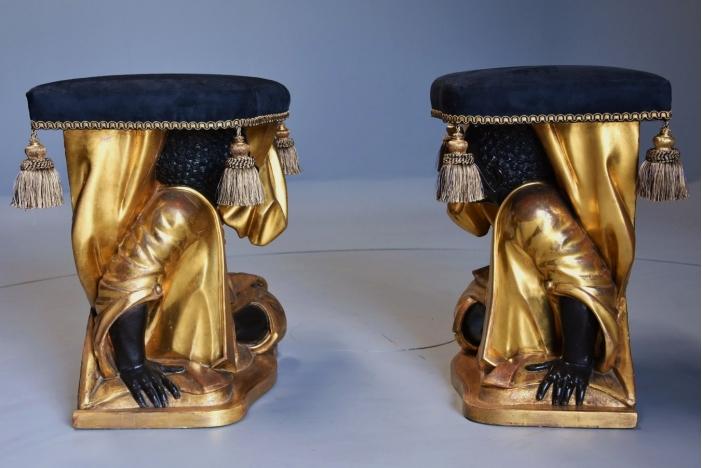 Set of four Venetian stools