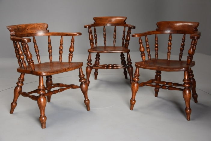 Set of 6 Smokers bow chairs