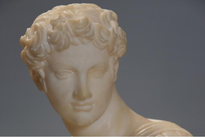 19thc alabaster sculpture