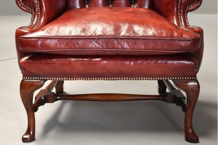 Pair Georgian style armchairs