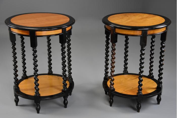Pair of 19thc Ceylonese tables
