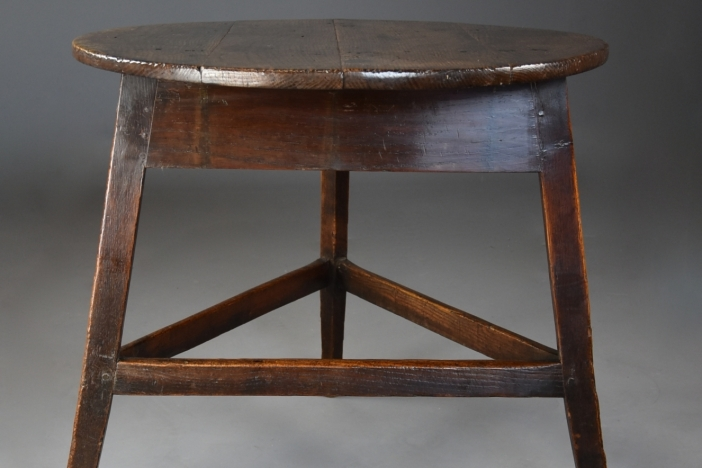 19th century oak cricket table