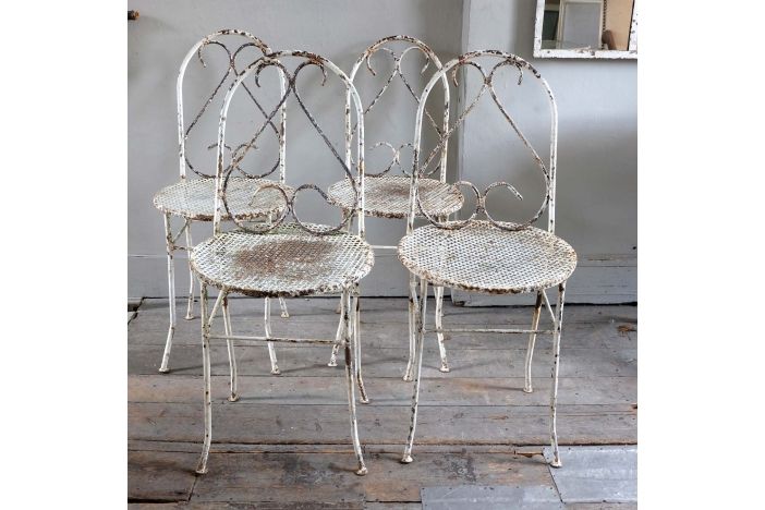 Set of Antique Garden Chairs