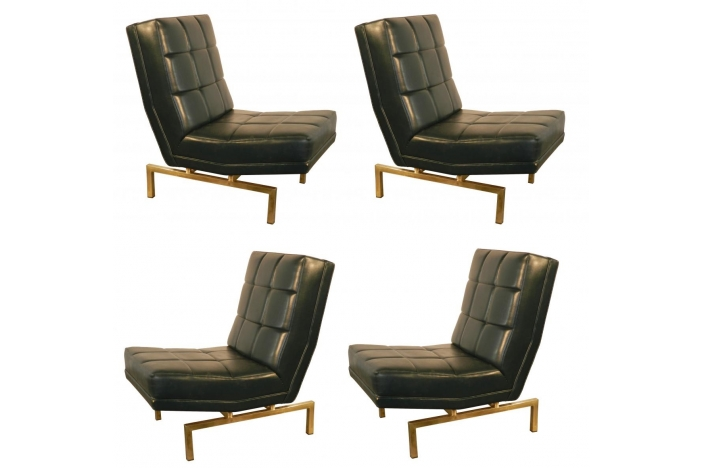 P. Paulin set of 4 armchairs