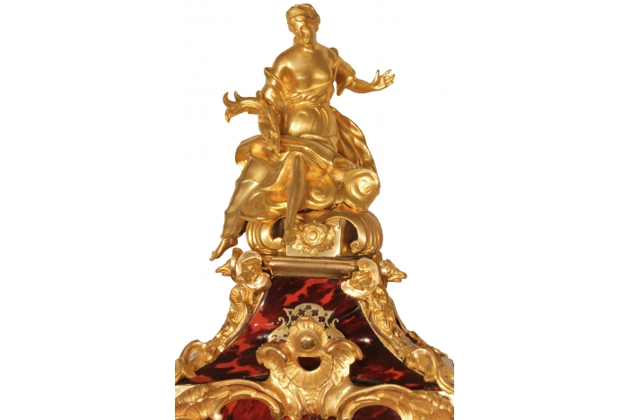 French 18th C Cartel Clock