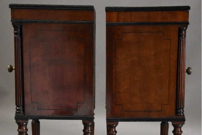Pair Regency bedside cabinets