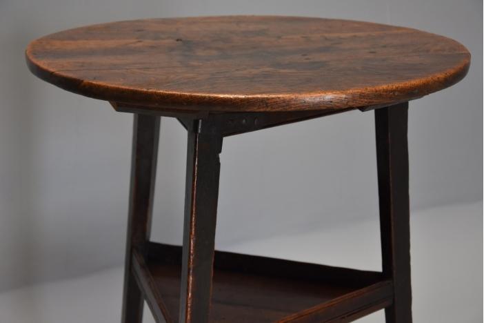 18thc oak cricket table