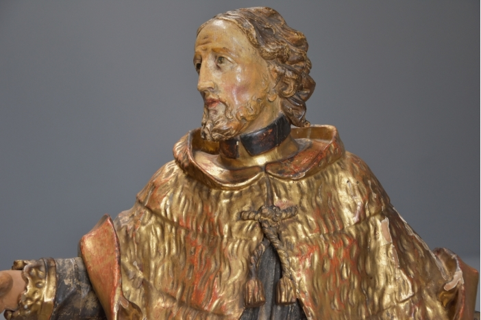 18thc figure of Saint Peter