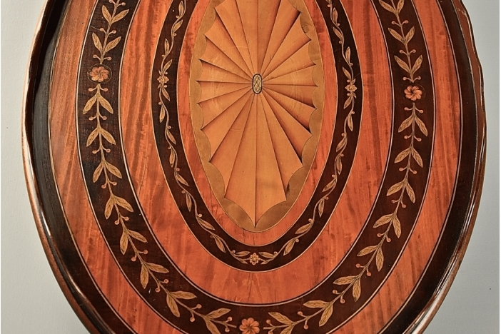 Edwardian oval inlaid tray