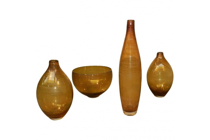 Set of four 1960 glasswares